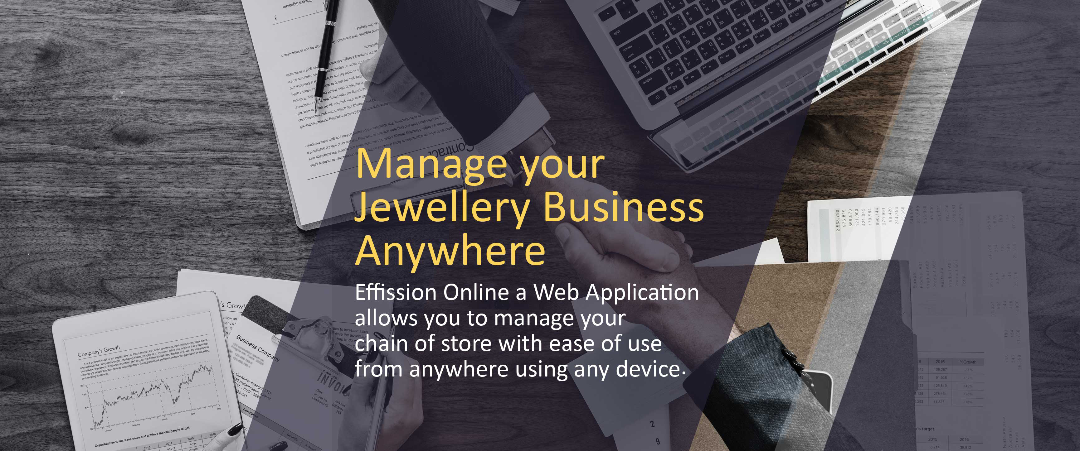 Cloud based jewellery erp software | Effission